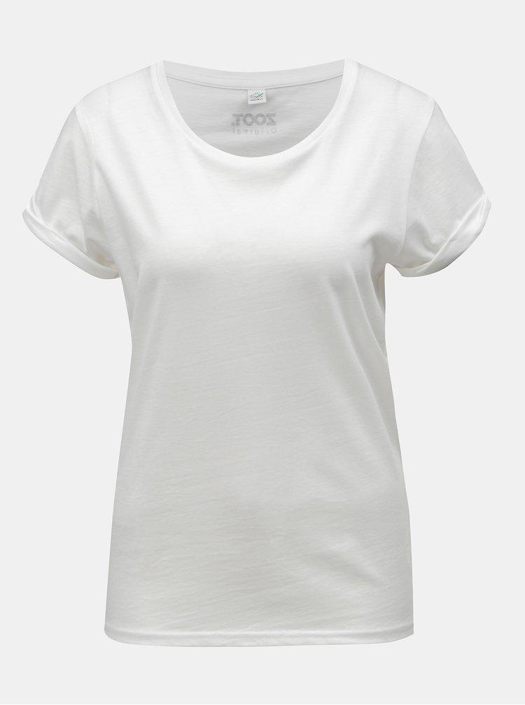 Biele dámske tričko s motívom ruky ZOOT Original Namasté