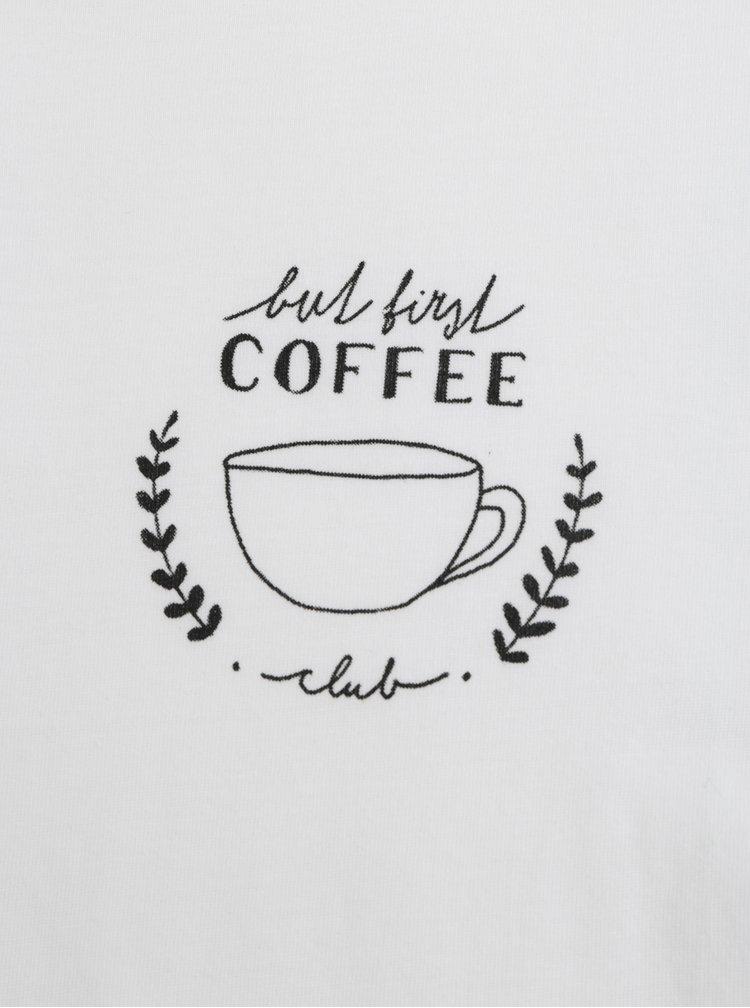 Bílé dámské tričko s motivem hrníčku s kávou ZOOT Original Coffee