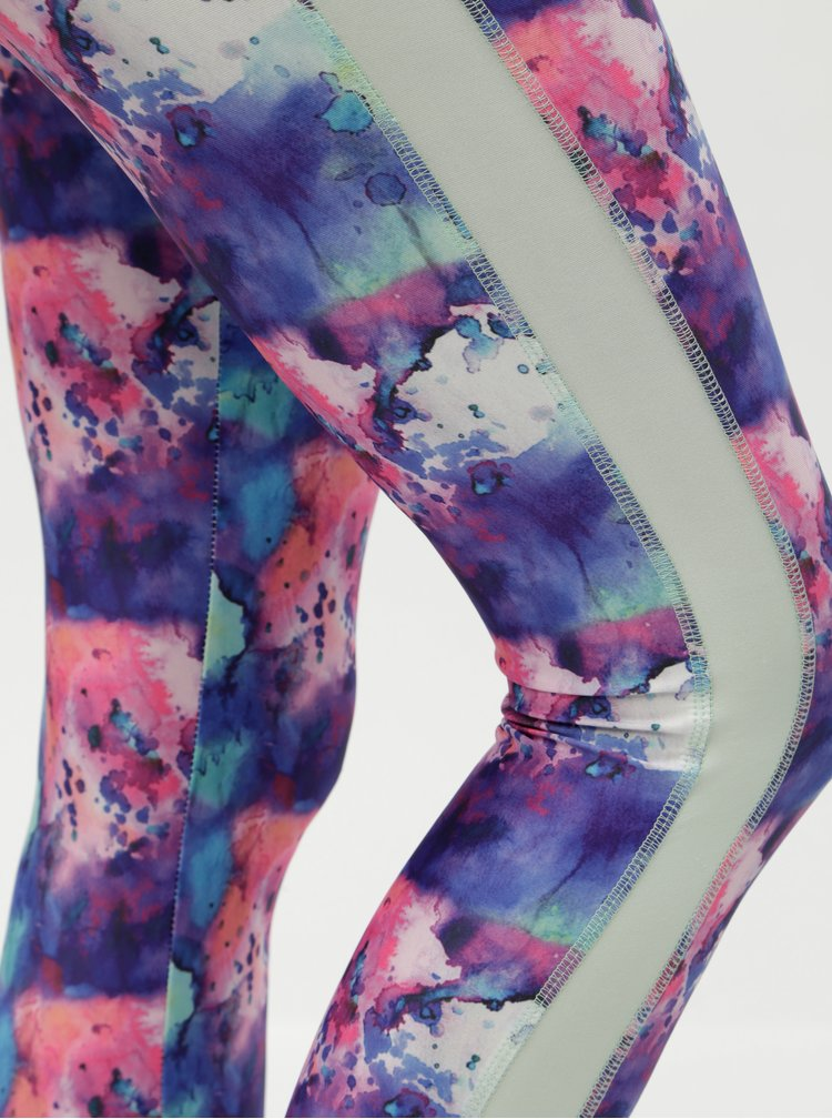 Leggings roz-albastru cu model Noisy May