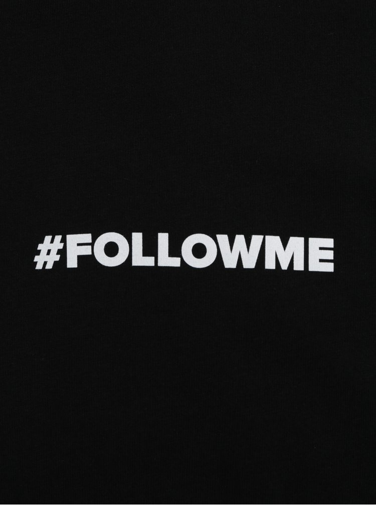 Černé pánské tričko s potiskem ZOOT Original Follow me