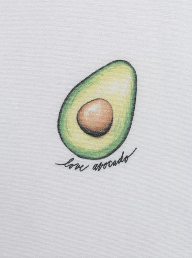 Bílé dámské tričko s motivem avokáda ZOOT Original Avocado