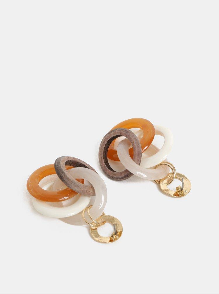 Kruhové náušnice ve zlaté, bílé a růžové barvě ONLY