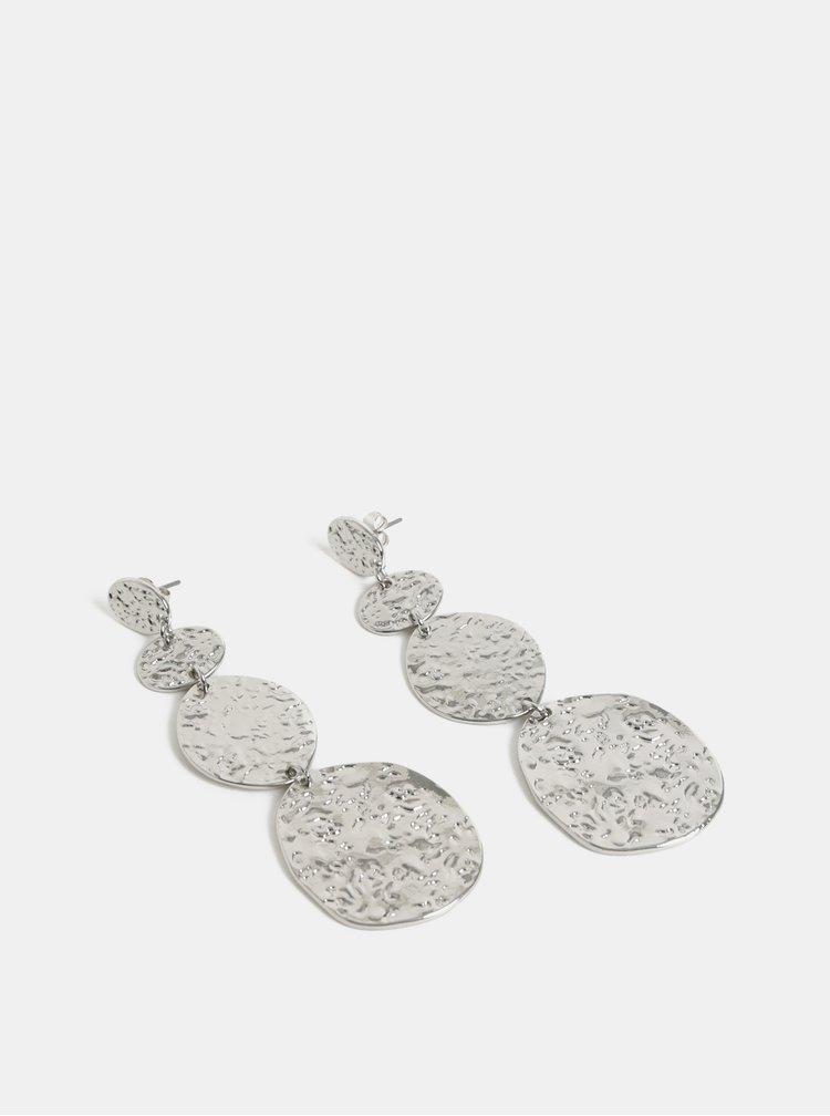 Cercei lungi argintii Pieces Keitha