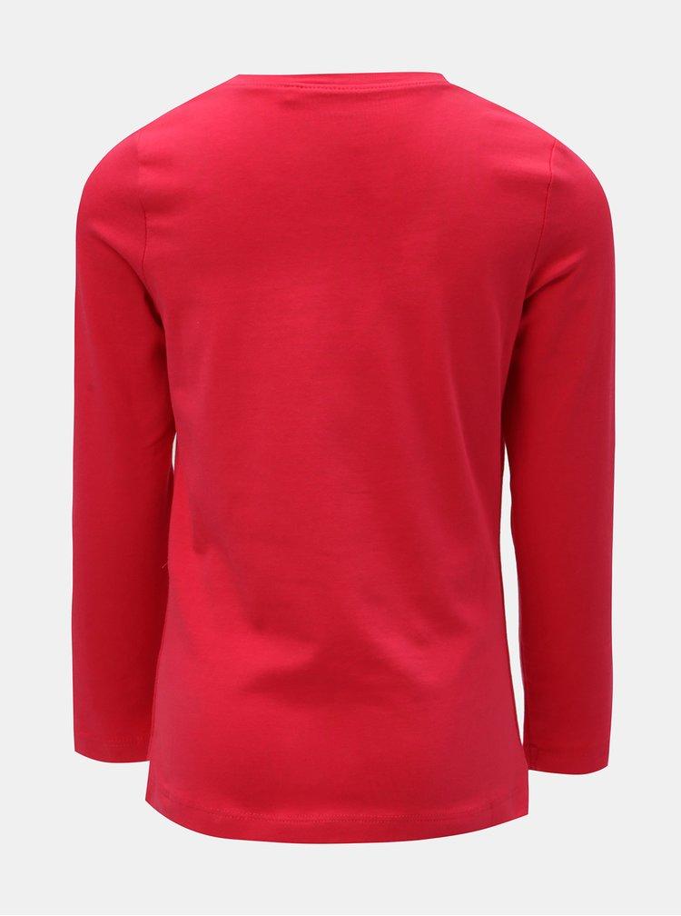 Tmavoružové dievčenské tričko s flitrami Name it Rastar