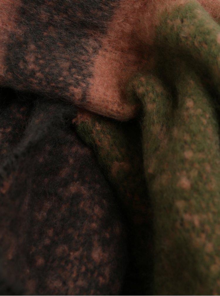Růžovo-zelená šála Pieces Kuma