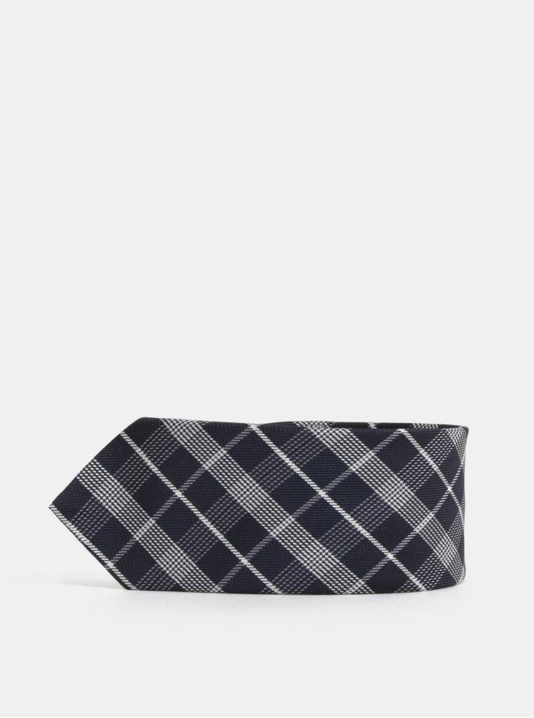 Tmavě modrá klučičí kostkovaná kravata Name it Risp