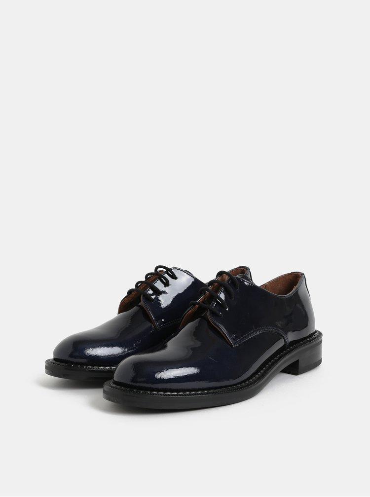 Pantofi albastru inchis din piele cu aspect lucios Frau Daffy