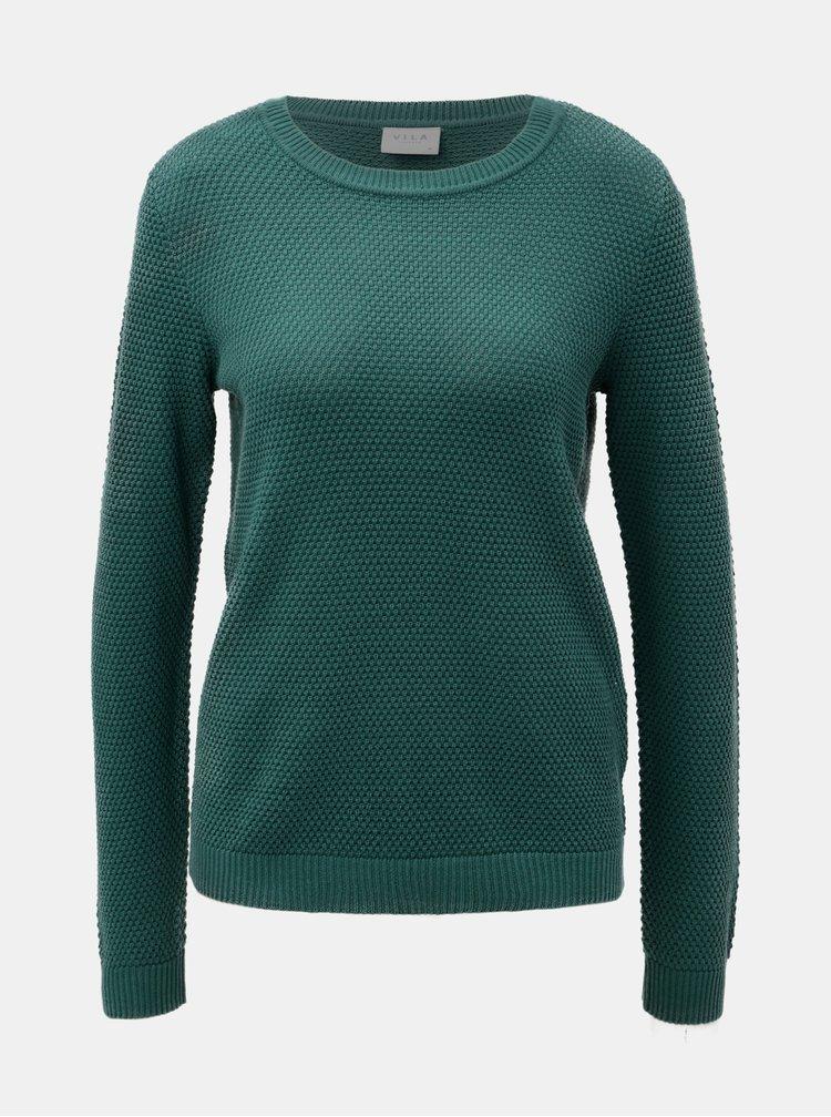 Zelený basic svetr VILA Chassa