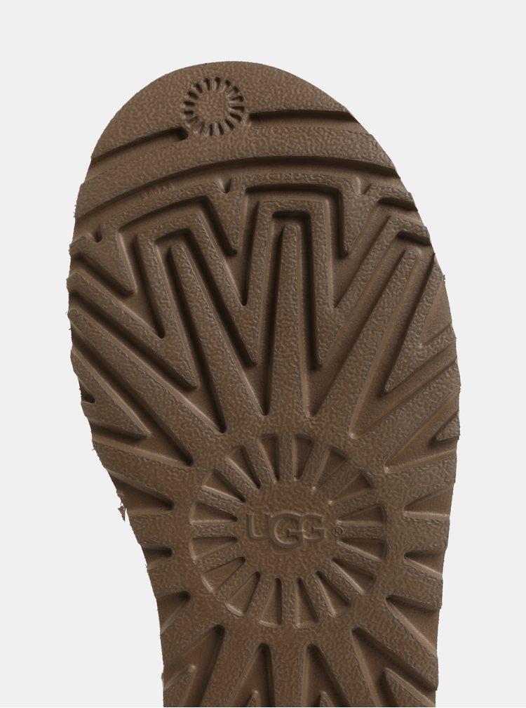 Cizme maro de iarna impermeabile din piele intoarsa UGG Classic Mini II