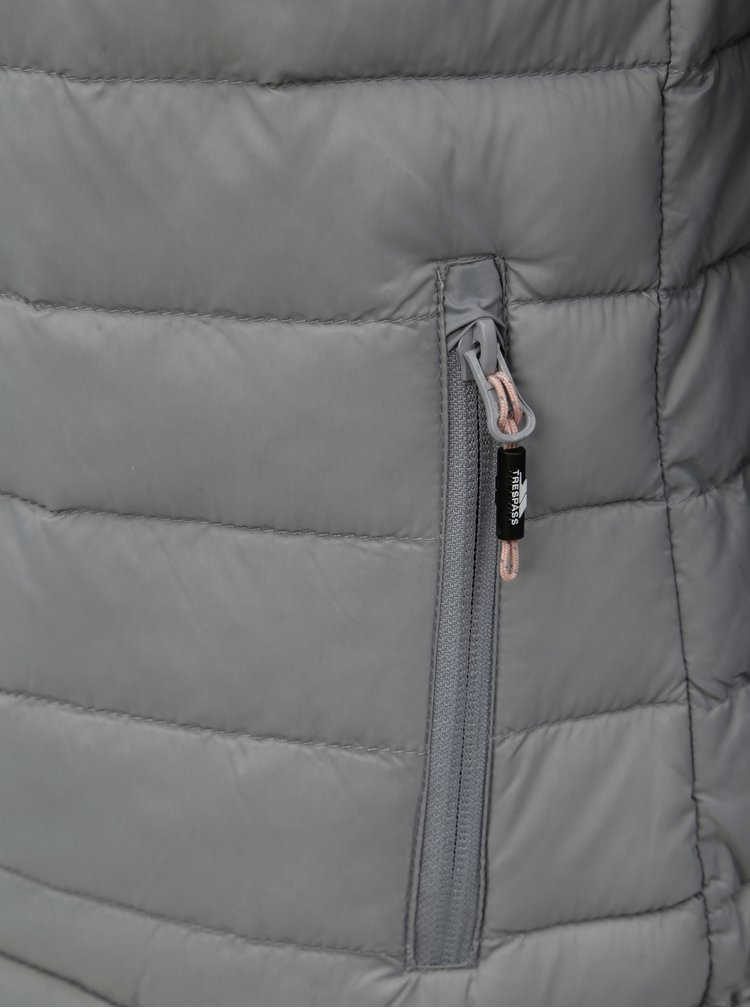Šedá péřová voděodolná bunda M&Co