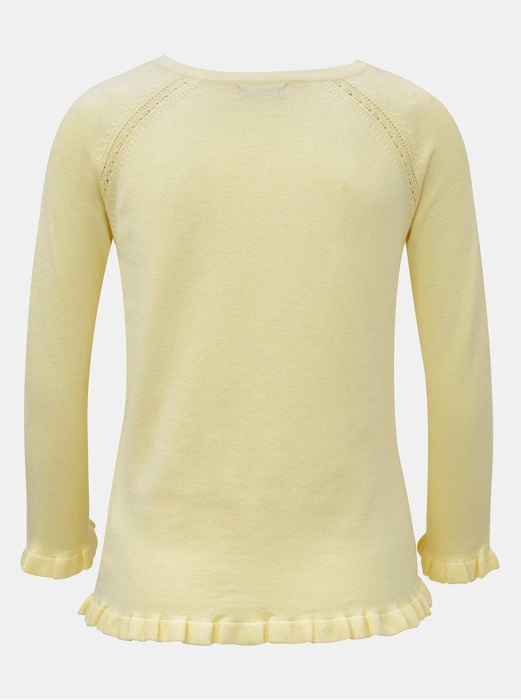 Žltý tenký kardigán s volánmi M&Co