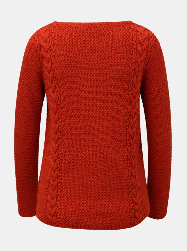 Červený sveter s dlhým rukávom M&Co