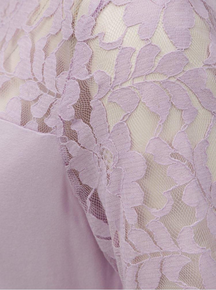 Světle fialová halenka s krajkou M&Co