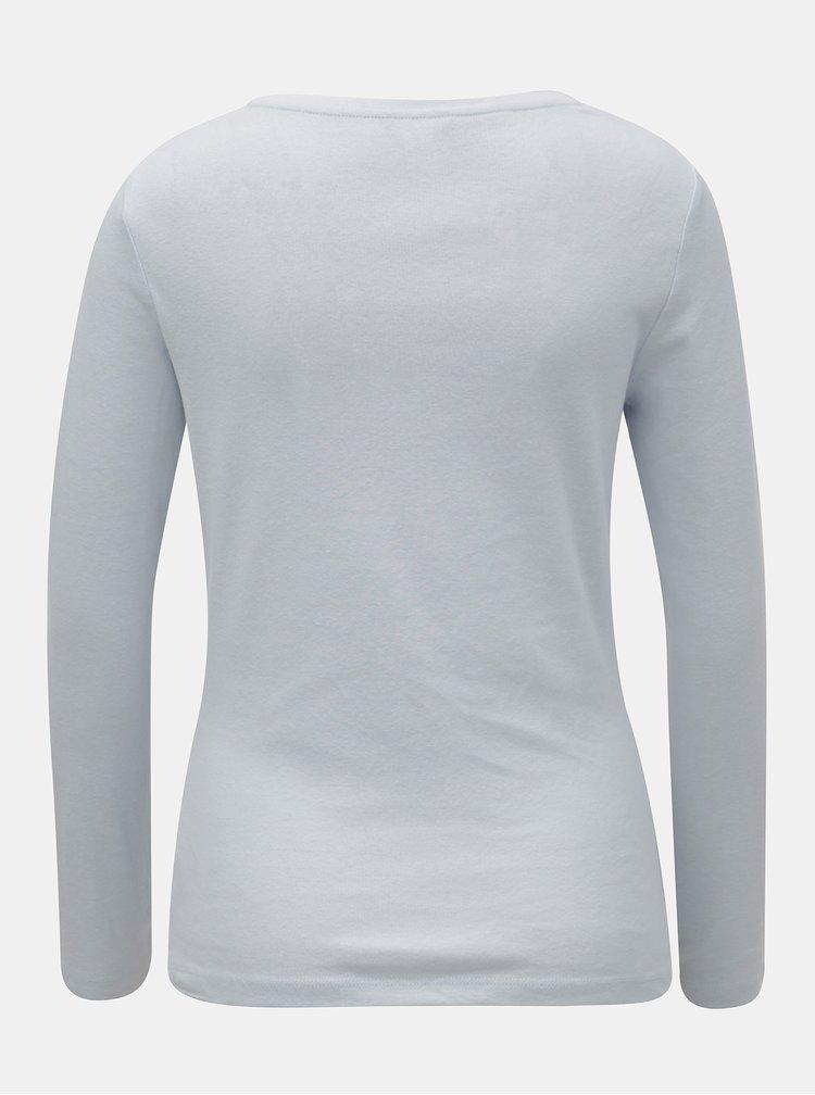 Svetlomodré basic tričko s dlhým rukávom M&Co
