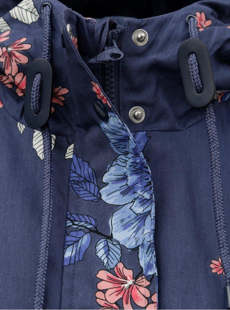 Modrá květovaná parka M&Co