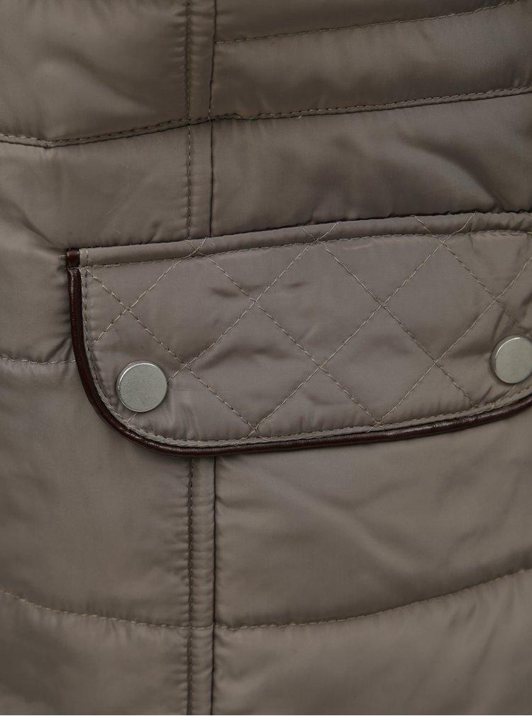 Jacheta bej de iarna matlasata cu blana artificiala M&Co Petite