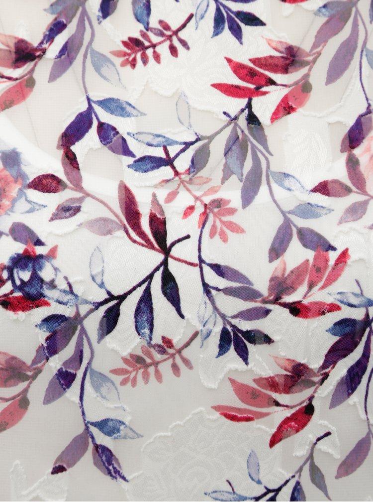 Růžovo-bílá květovaná halenka s 3/4 rukávem M&Co