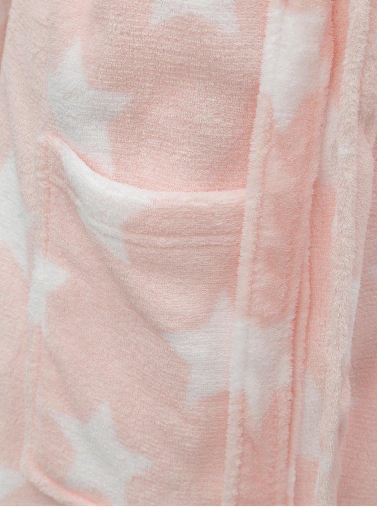 Světle růžový župan s motivem hvězd M&Co