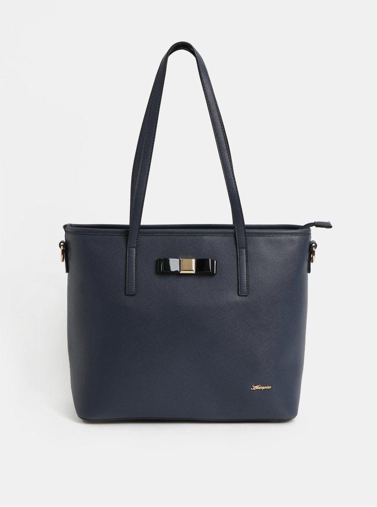 Tmavě modrá kabelka s detaily ve zlaté barvě Hampton