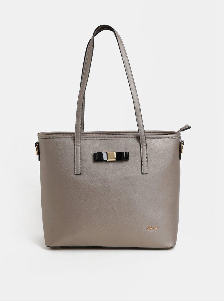 Béžová kabelka s detaily ve zlaté barvě Hampton
