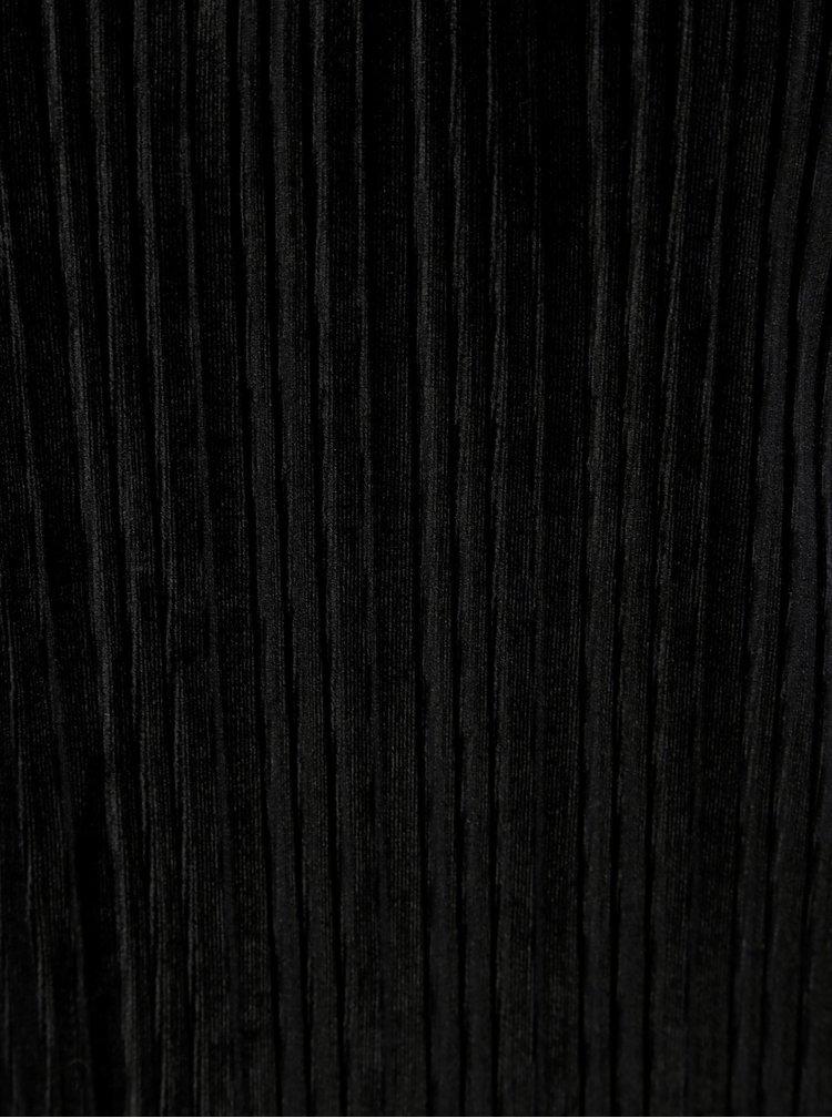Maiou negru cu striatii si bretele VERO MODA