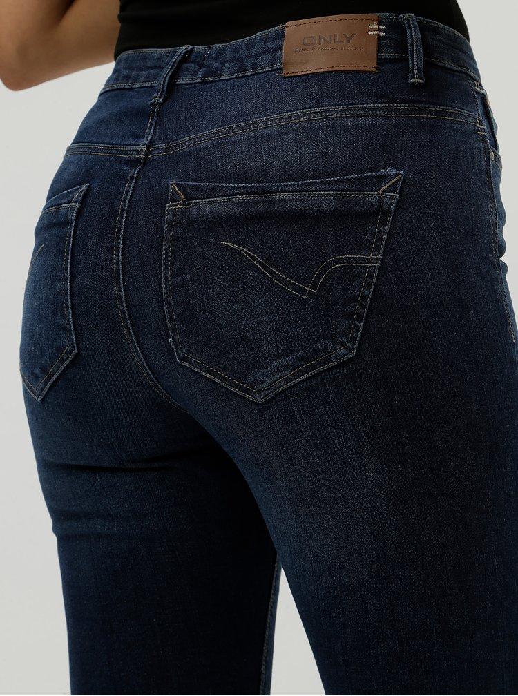 Modré skinny džíny s vysokým pasem ONLY Paola