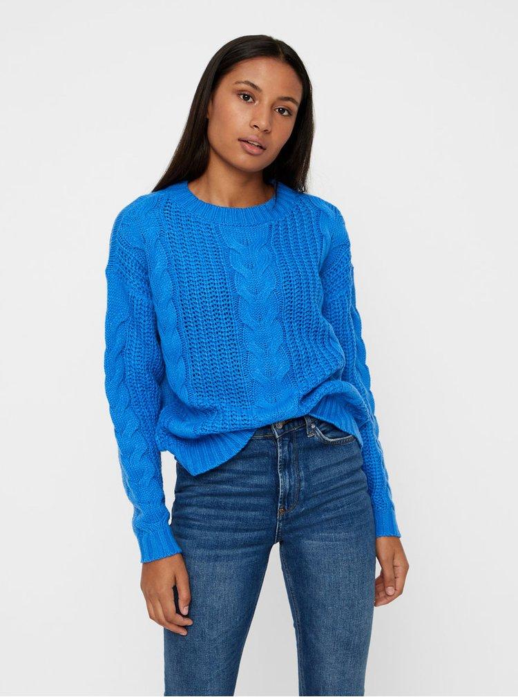 Modrý volný svetr VERO MODA