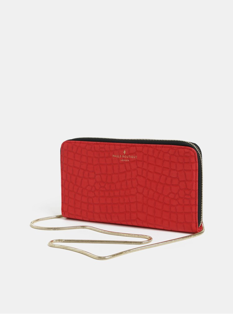 Červené psaníčko s krokodýlím vzorem Paul's Boutique