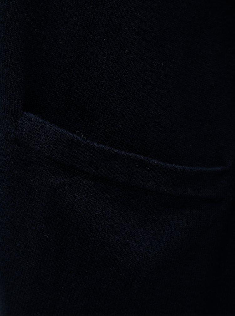 Tmavomodré svetrové sako Nautica