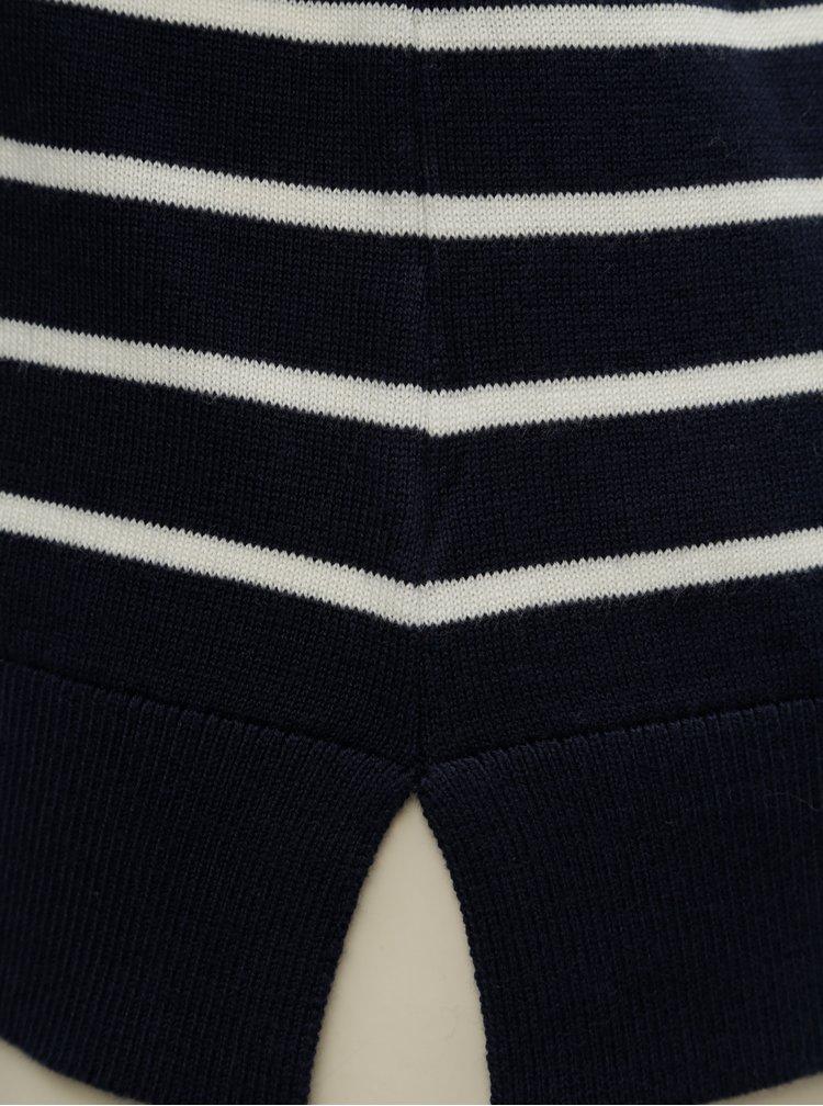 Pulover crem-albastru lejer in dungi Nautica