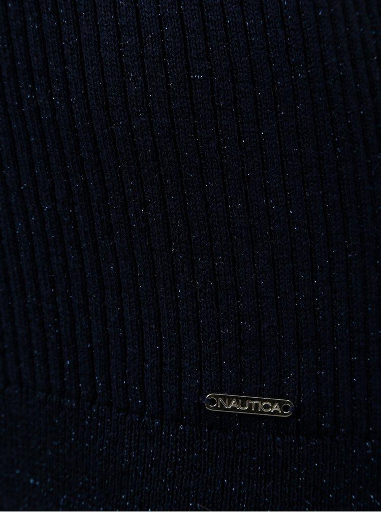 Tmavě modrý třpytivý lehký svetr Nautica