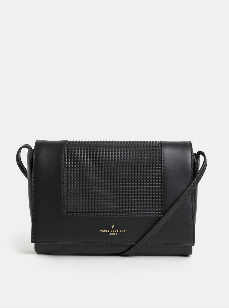 Černá strukturovaná kabelka Paul's Boutique Lily