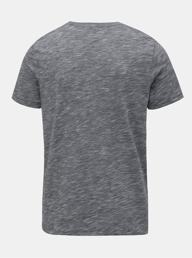 Modro-šedé pruhované slim fit tričko Jack & Jones True