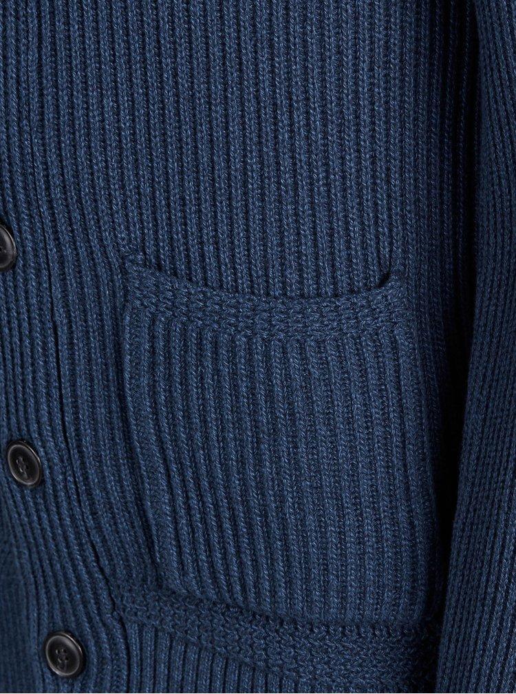 Cardigan albastru inchis Jack & Jones Norson