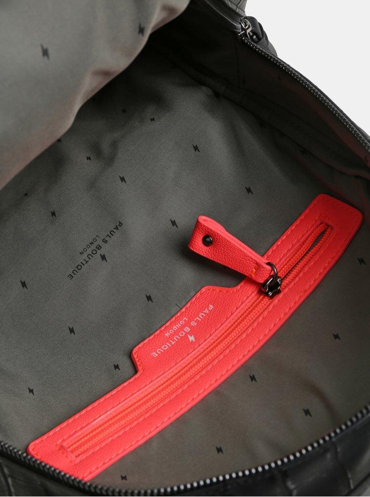 Rucsac negru din piele sintetica Paul's Boutique Rosa