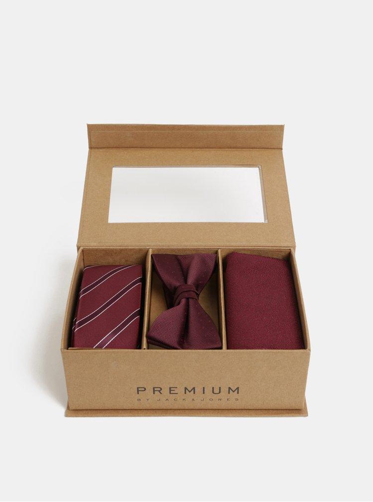 Set de cravata, papion si batista bordo Jack & Jones Necktie