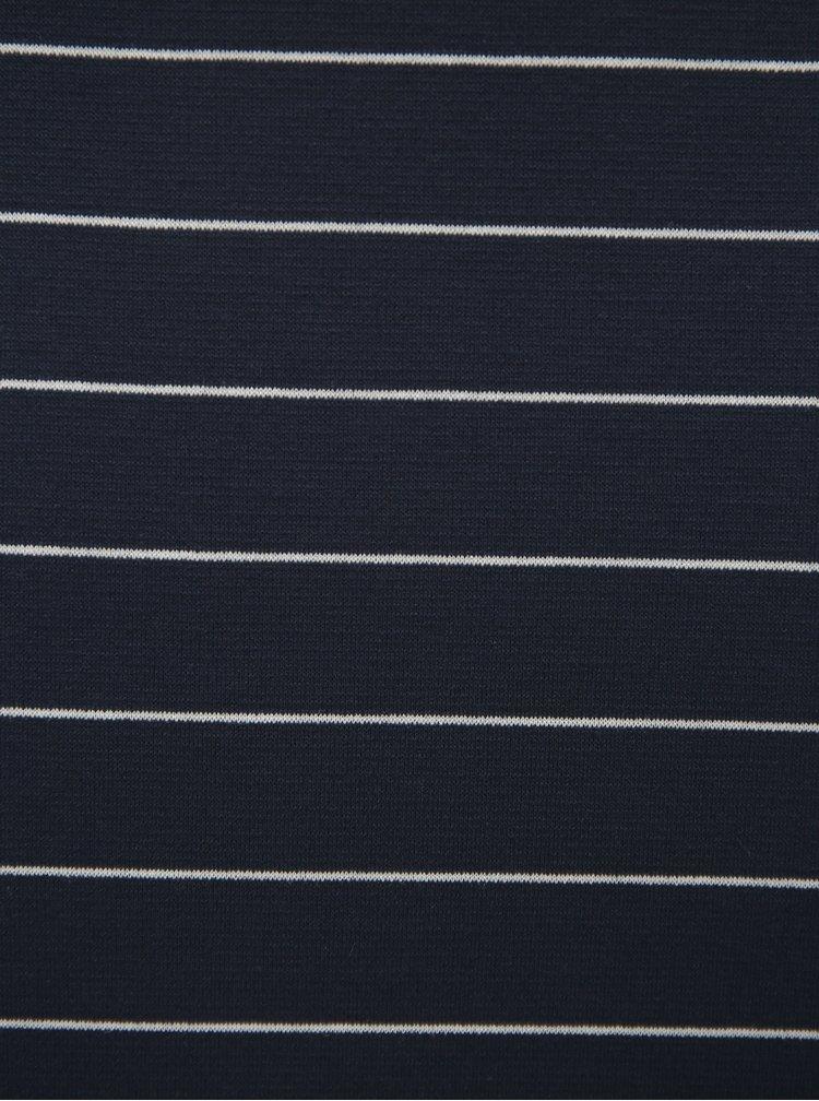 Fusta albastru inchis in dungi VILA Tinny
