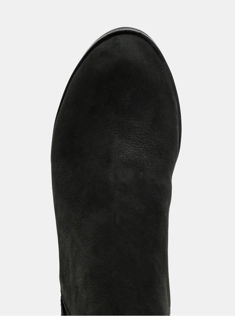 Ghete chelsea negre din piele de dama ALDO Pessa