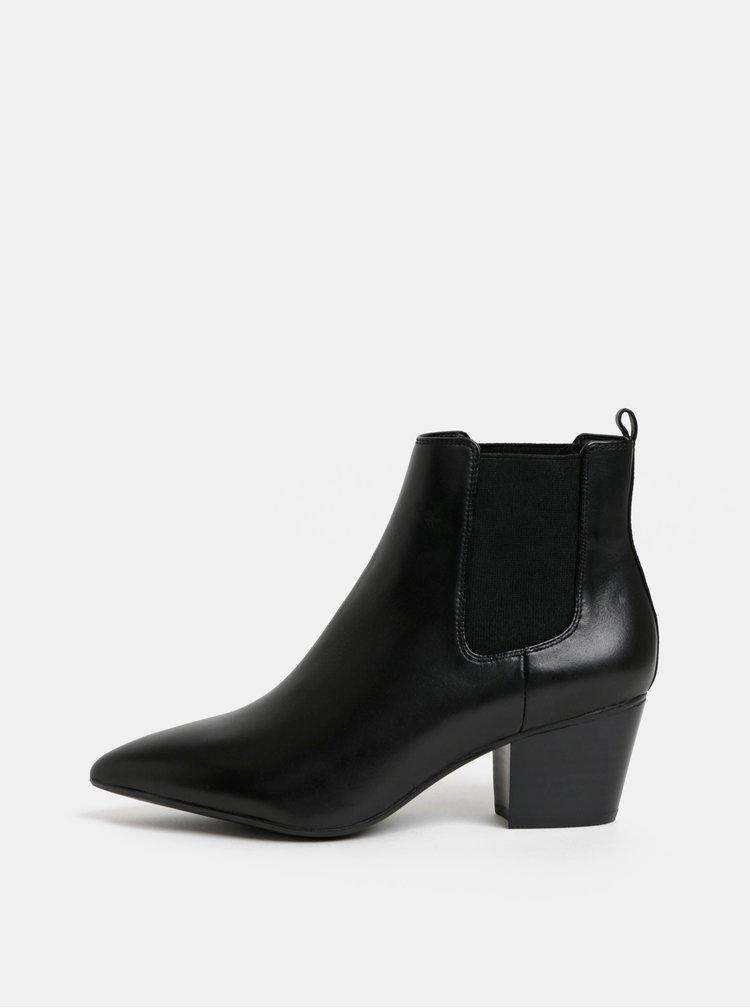Černé dámské kožené chelsea boty ALDO Grillan