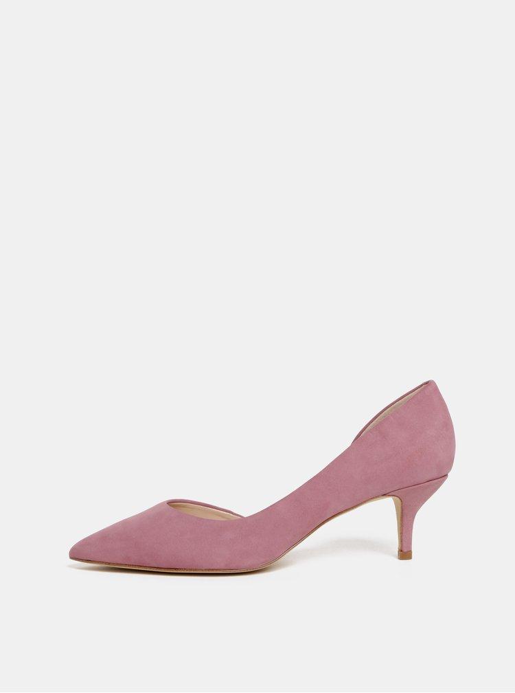 Pantofi roz din piele intoarsa ALDO Nyderindra