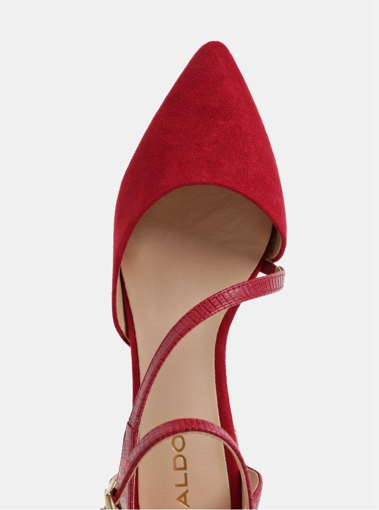 Sandale bordo cu detalii din piele intoarsa ALDO Acemma