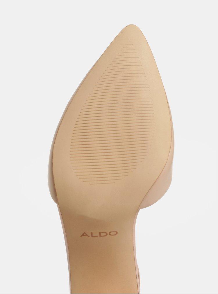 Světle růžové kožené lodičky ALDO Keclya