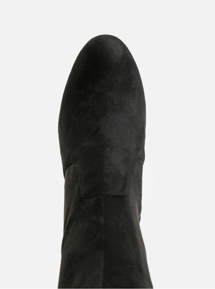 Cizme negre de iarna cu aspect de piele intoarsa ALDO Maede