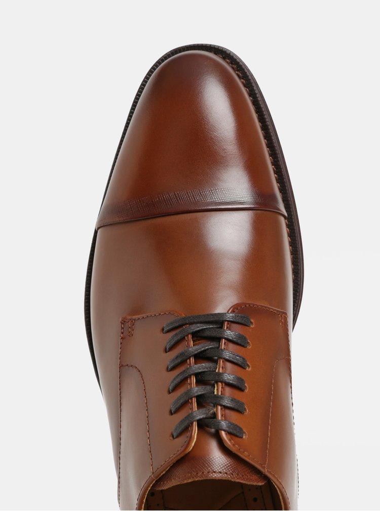 Pantofi barbatesti maro din piele ALDO Patern