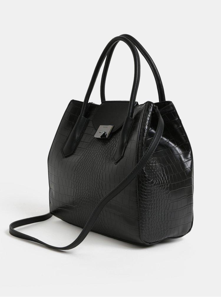 Černá kabelka s krokodýlím vzorem ALDO