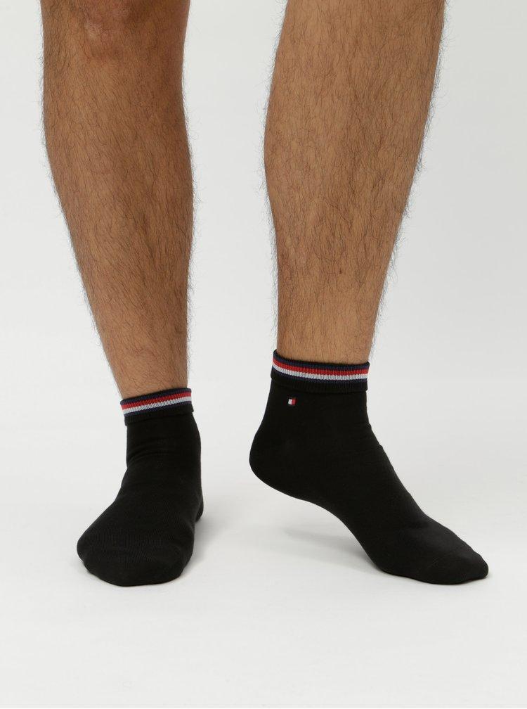 Sada dvou párů pánských kotníkových ponožek v černé barvě Tommy Hilfiger