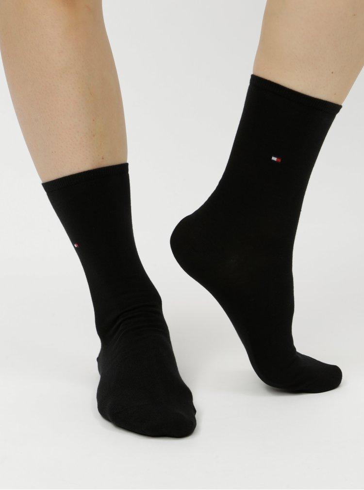 Sada dvou párů dámských ponožek v modré a černé barvě s kostkovaným vzorem Tommy Hilfiger
