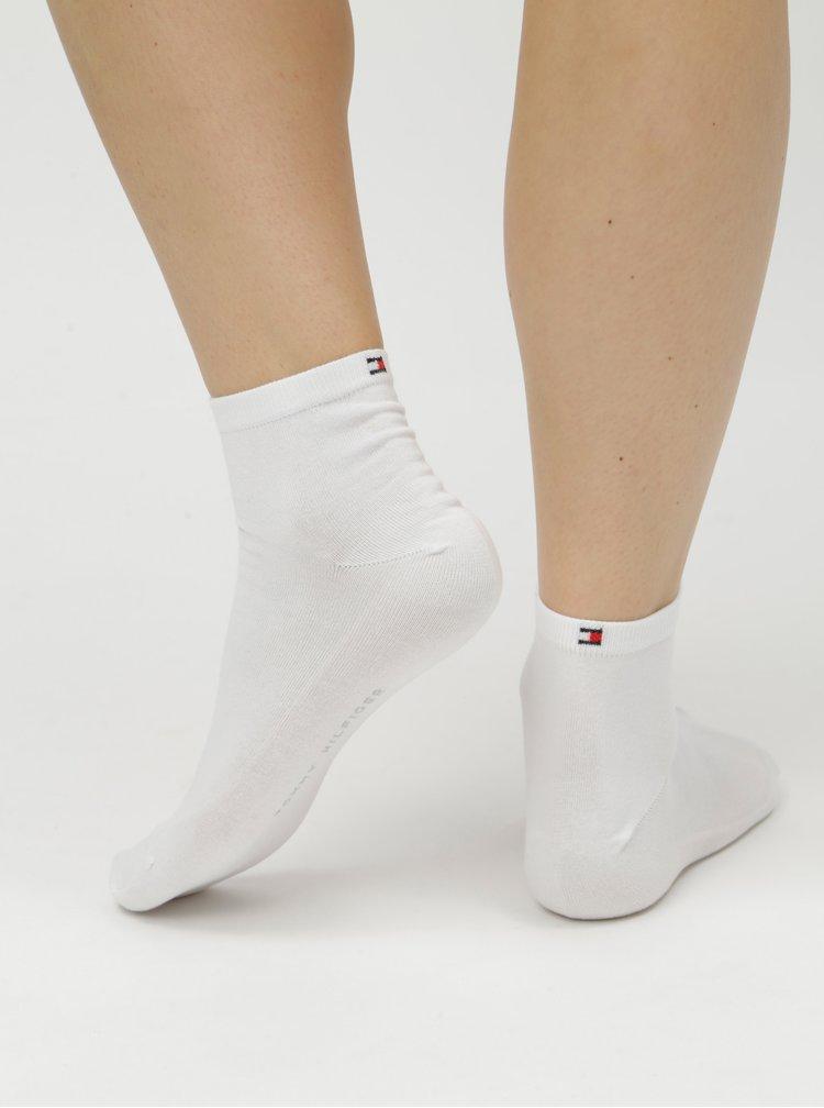 Sada dvou párů dámských kotníkových ponožek v bílé barvě Tommy Hilfiger