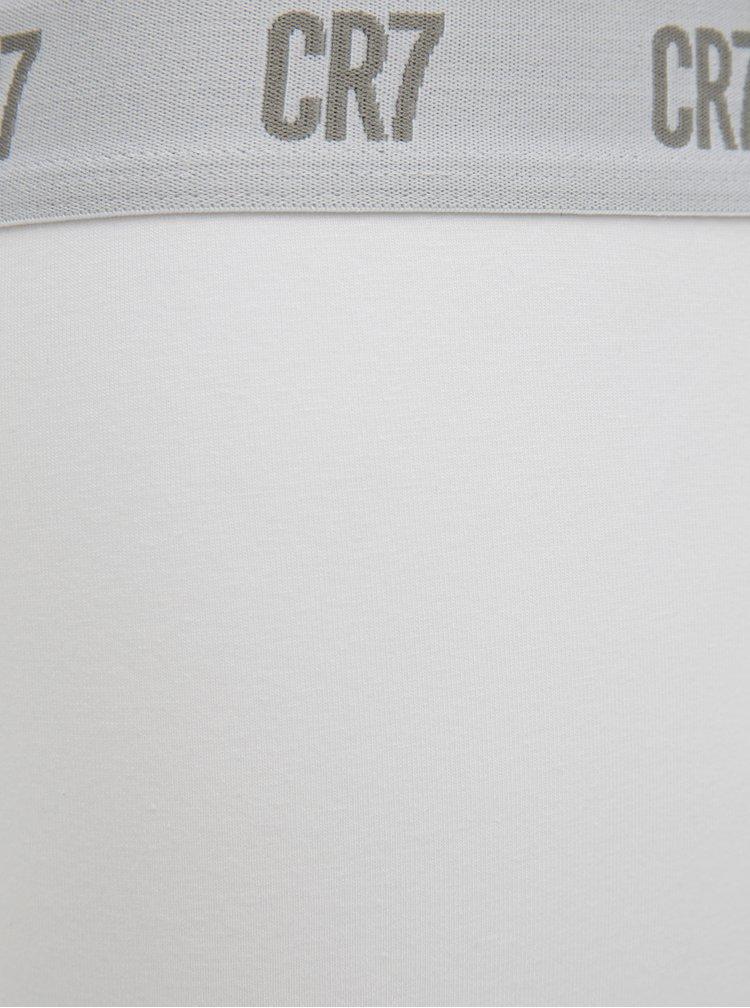 Sada tří boxerek v bílé barvě CR7