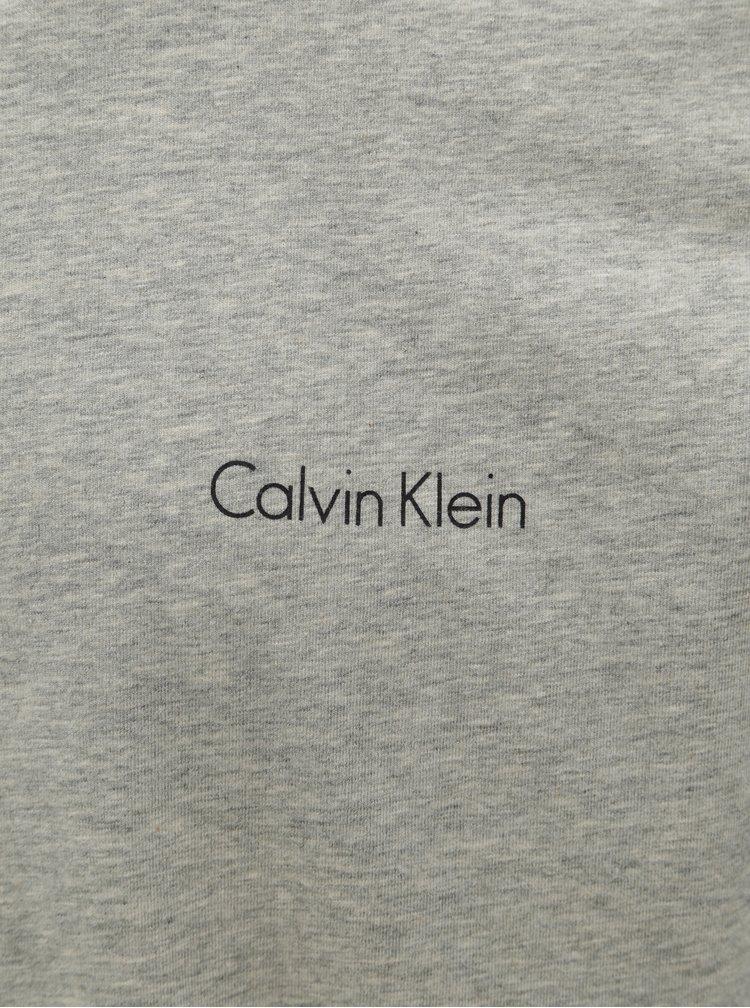 Pijama barbateasca gri din 2 piese cu husa Calvin Klein Underwear